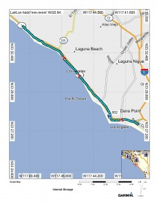 Day 6 Map - Dana Point to Crystal Cove