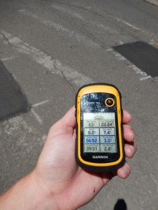 Handheld Garmin stats