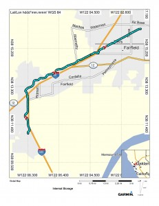 Map (Cordelia to Fairfield)