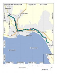 Map (Watsonville to Felton)